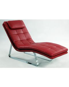 Chintaly Corvette Lounge Chair, Red