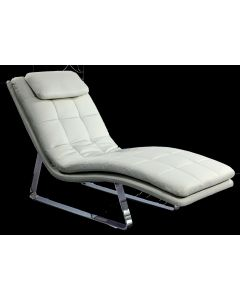 Chintaly Corvette Lounge Chair, White